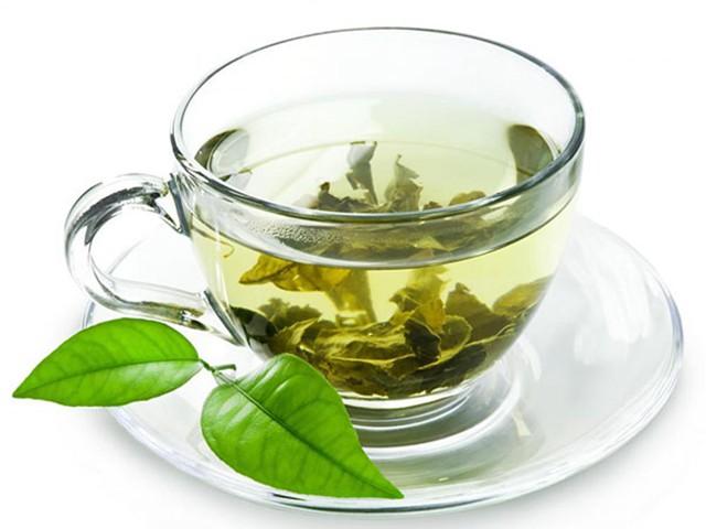 Yellow tea cup